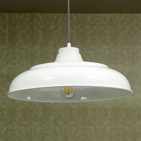Craftter 17 inch Dia White Color Metal Pendant Lamp Hanging Light Decorative Ceiling Light