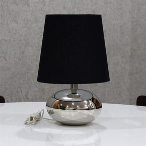 Craftter Nikil Finish Brass Base Table Lamp (Black, 10x10x15.5inch)