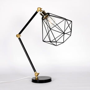 Craftter Diamond Shade Black Color Metal Table Lamp Decorative Night Light