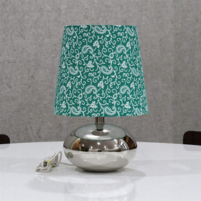 Treditional Keri Design Green Colour Shade Nikil Finish Brass Base Table Lamp Decorative Night Bedside Lamp
