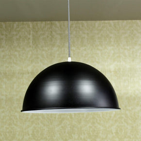 Craftter 16 inch Dia Outer Black and Inner White Color Metal Pendant Lamp Hanging Light Decorative Ceiling Light