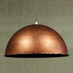 Craftter 16 inch Dia Copper Color Metal Pendant Lamp Hanging Light Decorative Ceiling Light