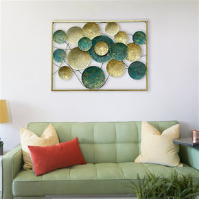 Craftter Metal Circles Wall Hanging (Multicolour_41 X 30 inch)