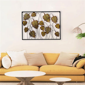 Craftter Brown Leafs Metal Wall Art Sculpture Home Decor Wall Hanging