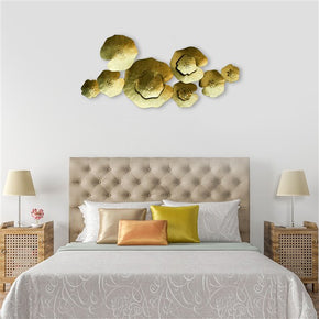 Craftter Lotus Leafs Gold Color Metal Wall Art Sculpture Home Decor Wall Hanging