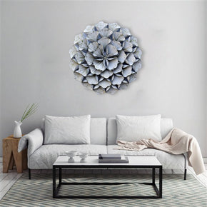 Craftter 3D Folded Leafs White Color Metal Wall Art Sculpture Home Decor Wall Hanging