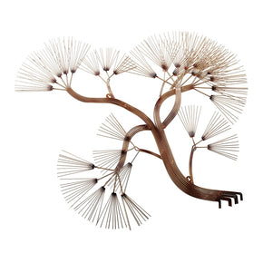 Craftter Tree of Life Antique Gold Color Metal Wall Art Decorative Home Decor Wall Hanging Sculpture