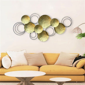Craftter Abstract Plates Gold Color Metal Wall Art Sculpture Home Decor Wall Hanging