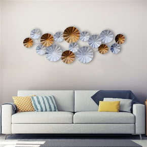 Craftter Long White and Gold Color Metal Wall Art Sculpture Home Decor Wall Hanging