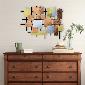 Craftter Colorful Patches Large Metal Wall Art Sculpture Home Decor Wall Hanging