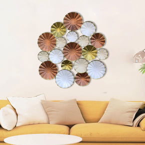 Craftter Multicolor Circles Large Metal Wall Art Decorative Wall Sculpture
