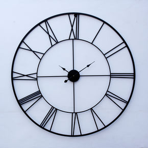 Craftter 40 inch Black Colour Handmade Wall Clock Metal Wall Art Sculpture Wall Decor And Hanging