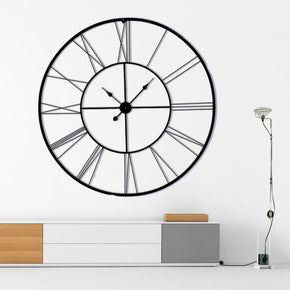 Craftter 150 cm Live Roman Skeleton Metal Wall Clock Decorative Wall Hanging Wall Sculpture Antique and Contemporary Wall Art Decor (Black)