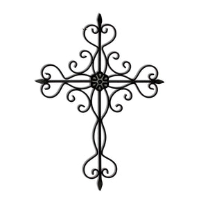 Craftter Decorative Cross Black Finish Decorative Wall Art Hanging Sculpture