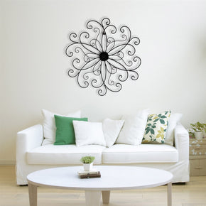 Craftter Decorative Rangoli Design Black Color Decorative Wall Art Hanging Sculpture