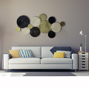 Craftter Extra Large Circles Metal Wall Hanging and Decorative Wall Art Sculptures