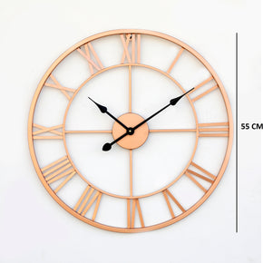 Craftter Metal Antique and Contemporary Wall Clock (Brown_55 x 55 cm)
