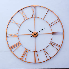 Craftter Copper 40 inch Handmade Wall Clock Metal Wall Art Sculpture Wall Decor And Hanging