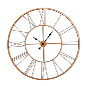 Craftter 150 cm Extra Large Copper Color Roman Live Metal Wall Clock