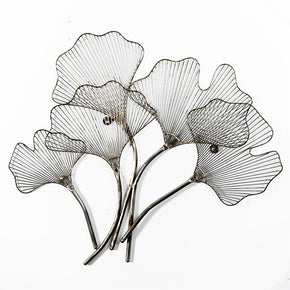 Craftter Decorative Leafs Row Finish Decorative Wall Art Hanging Sculpture