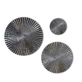 Craftter Set of 3 Mirror Finish Aluminium Circles Metal Wall Décor Hanging Large Wall Sculpture Art
