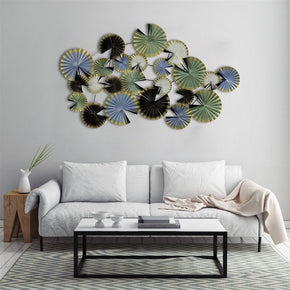 Craftter Folded Leaves Multicolor Extra Large Metal Wall Art, Decorative Wall Sculpture Handing Home Décor