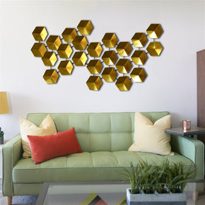 Craftter Unique Design Gold Color Metal Wall Art, Decorative Wall Sculpture Handing Home Décor