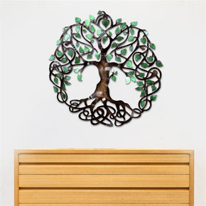 Craftter Small Tree of Life Metal Wall Art, Decorative Wall Sculpture Handing Home Décor