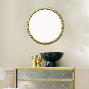 Craftter Gold Color Round Aluminium 24 inch Wall Mirror Decorative Hanging Mirror