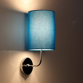 Craftter Textured Sky Blue Round Wall Lamp