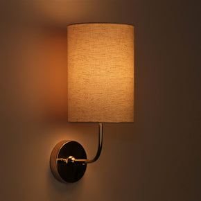 Craftter Off White Textured Round Wall Lamp