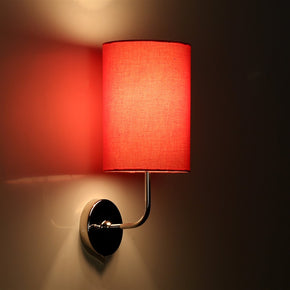 Craftter Plain Red Round Wall Lamp