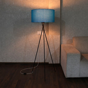 Craftter Metal Tripod Floor Decorative Standing Night Lamp (Blue, 22 X 22 X 57 inch)