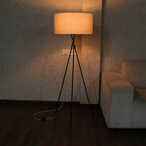 Craftter Metal Textured White Tripod Floor Night Lamp