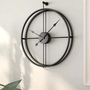 Craftter Black Metal Analog Wall Clock