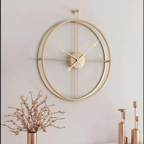 Golden Metal Analog Clock