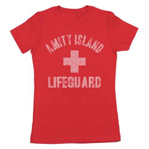 Amity Island Lifeguard Women's Jr Fit T-Shirt