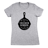 Battleground Chicken Dinner Women's Jr Fit T-Shirt