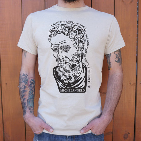 Michelangelo Quote T-Shirt (Mens)