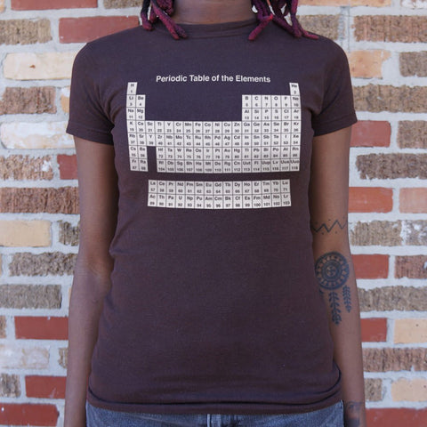 Periodic Table T-Shirt (Ladies)