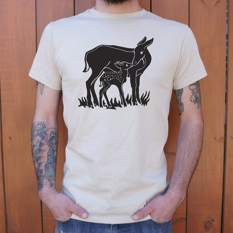 Doe And Fawn T-Shirt (Mens)