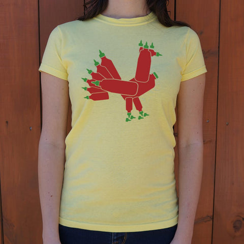 Hot Sauce Rooster T-Shirt (Ladies)