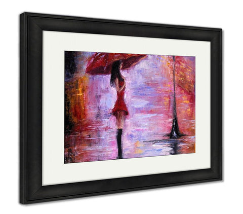 Framed Print, Woman In Red