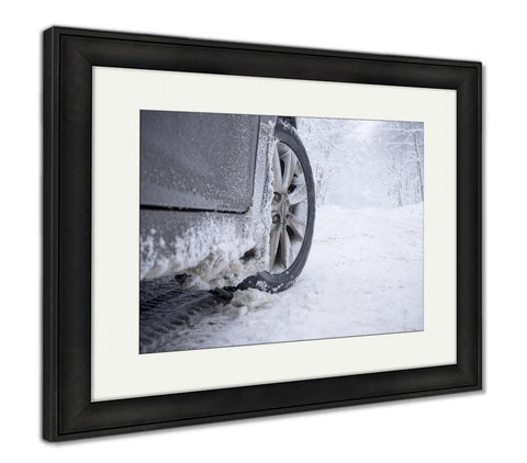 Framed Print, Winter Tire