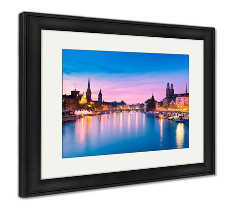 Framed Print, Zurich Switzerland