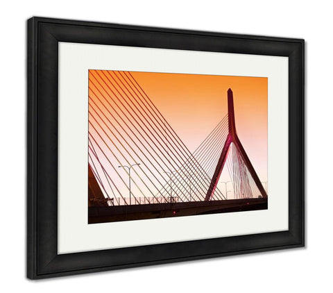 Framed Print, Zakim Bunker In Boston Massachusetts