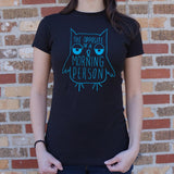 Opposite Of A Morning Person Owl T-Shirt (Ladies)