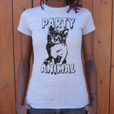 Party Animal Kitten T-Shirt (Ladies)