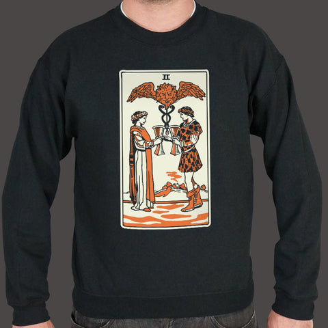Tarot Two Of Cups Sweater (Mens)