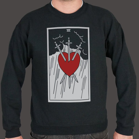 Tarot Three Of Swords Sweater (Mens)